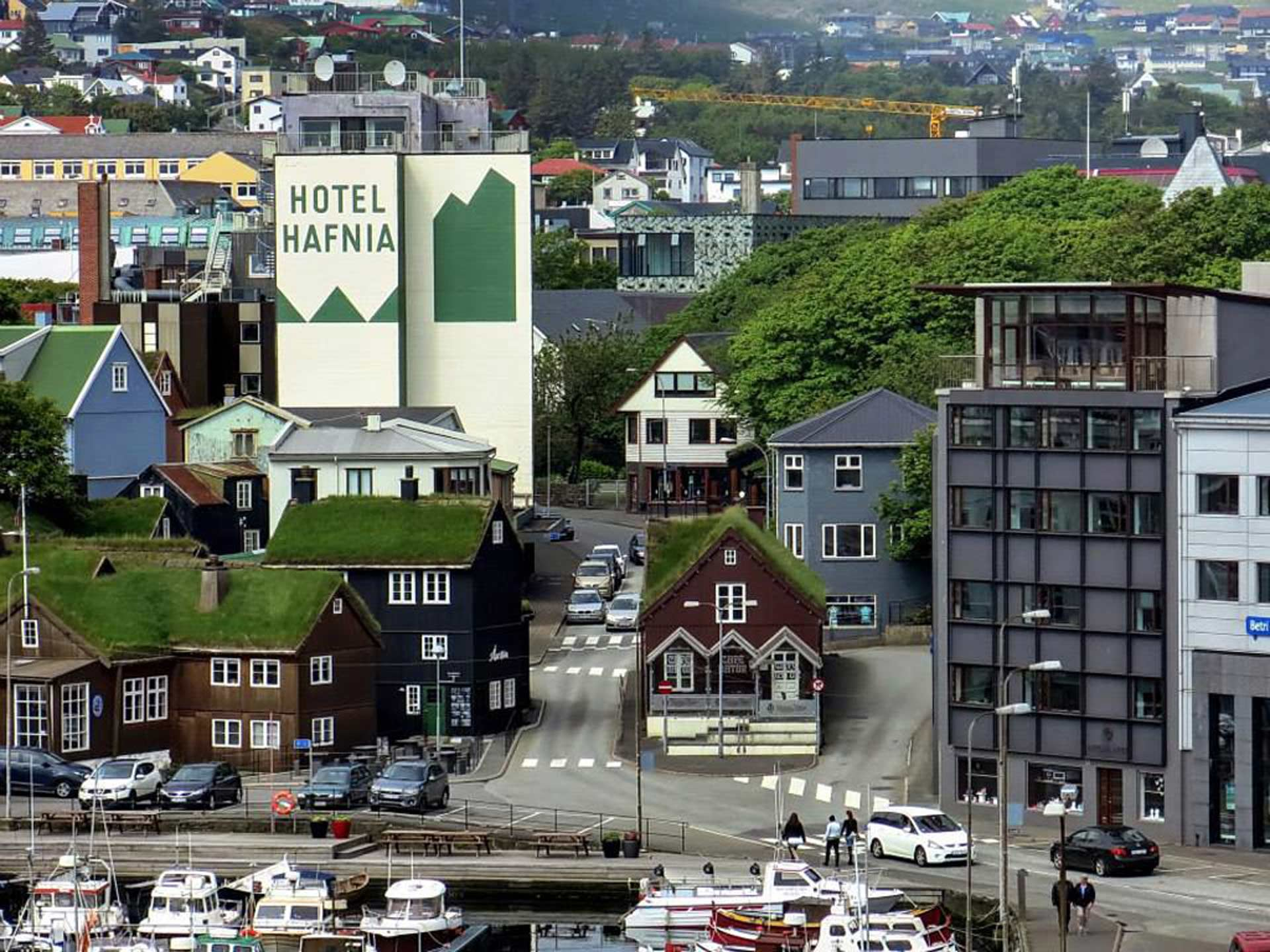 Tórshavn is the capital city of the Faroe Islands. Located in the southern part of Streymoy Island, the town has about 13,000 inhabitants (2008), the greater urban area 19,000. Photo: Ingi Sørensen